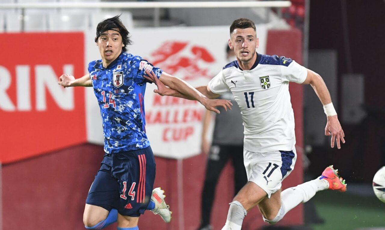 【日本代表】「相手がデカいので」決勝点の伊東純也、セルビアゴール攻略法を明かす。負傷についても言及「今は痛いですが…」